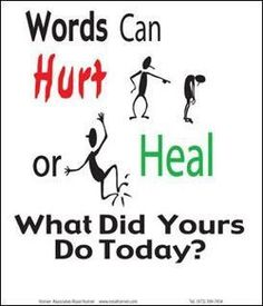 word can hurt and heal